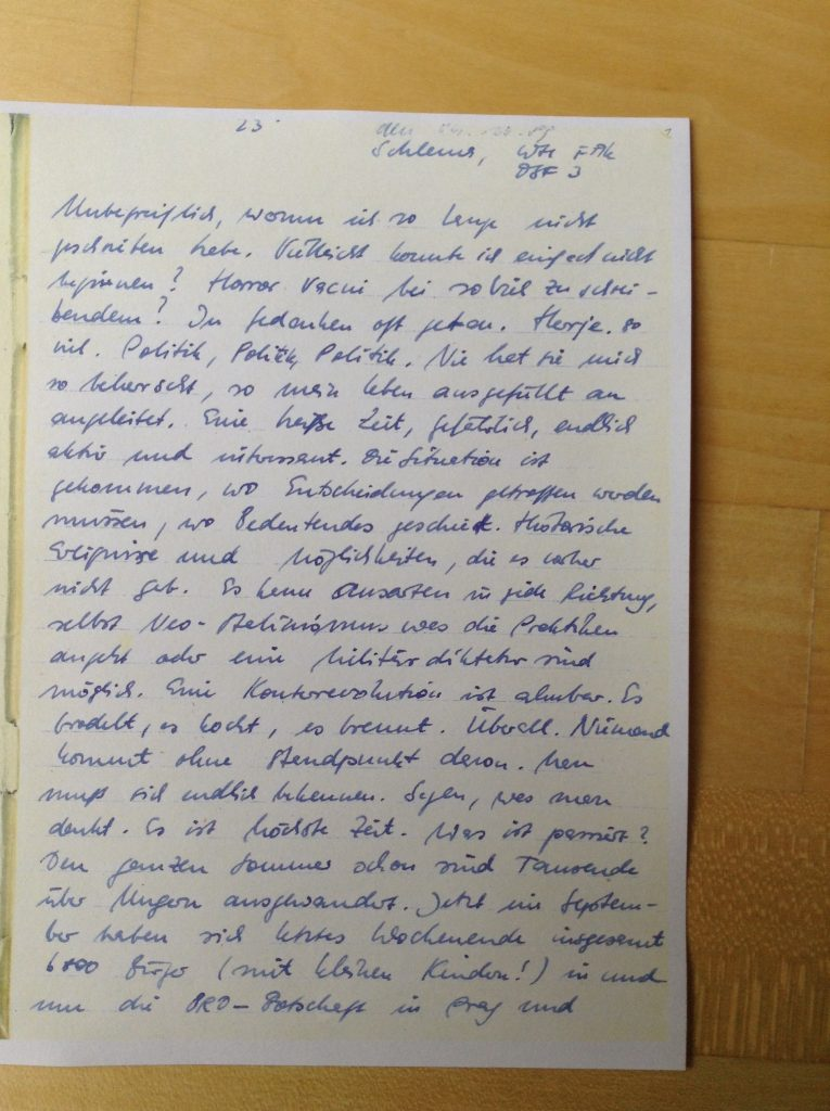Tagebuch, 4.10.1989